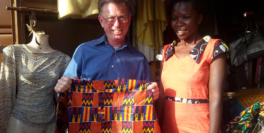 DR FERRY RECEIVES A GIFT FROM A BENEFICIARY.